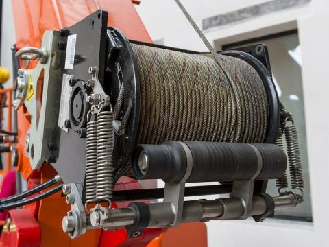 Winch with 125m rope
